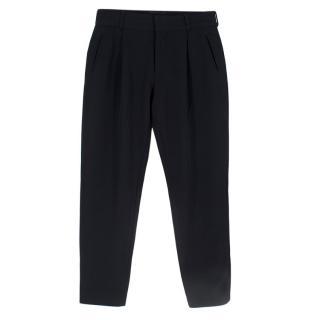 Dries Van Noten Navy Tapered Pants