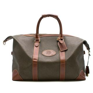 Mulberry Scotchgrain Medium Clipper Weekend Bag