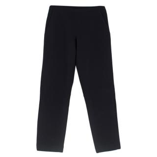 Prada Black Virgin Wool & Nylon Padded Sport Pants
