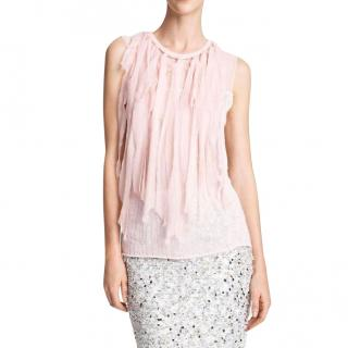 Nina Ricci Cashmere Mousseline Strip Knit Top