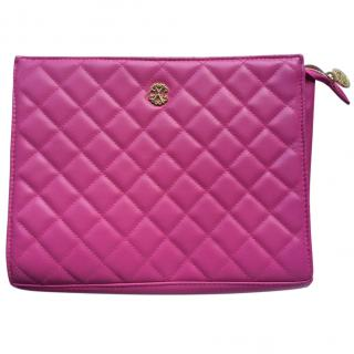 Christian Lacroix Pink Quilted Toiletry Bag