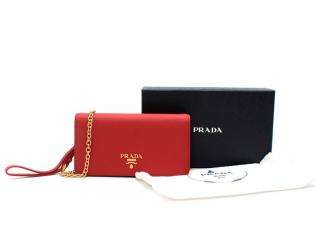 Prada Red  Saffiano Leather Mini Shoulder Bag