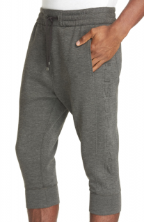 Helmut Lang Grey 3D Logo Cropped Joggers
