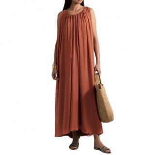 Max Mara Manolo pleated silk-chiffon tunic dress