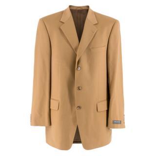 Barutti Camel Cashmere Single-Breasted Jacket