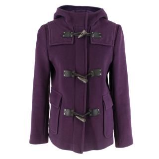 Burberry Wool Purple Duffle Coat