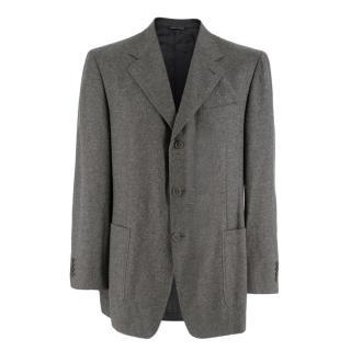 Canali Wool Grey Single Breasted Blazer