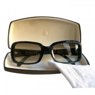 Loewe Rectangular Black Crystal Sunglasses