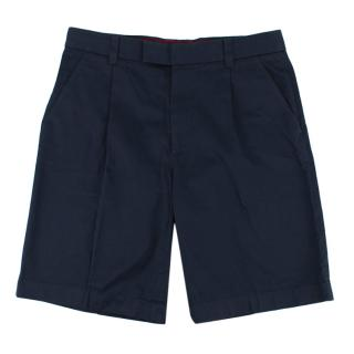 Gucci Navy Cotton Shorts