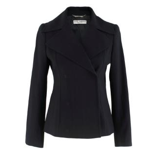 Dolce & Gabbana Double Breasted Black Wool Blazer