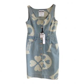 Moschino Couture heart monogram button front dress