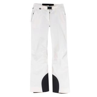 Moncler White Flared Ski Pant