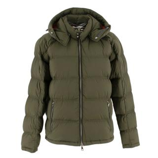Orlebar Brown Khaki Down Hooded Jacket