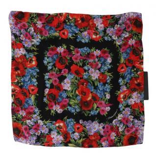 Dolce & Gabbana floral print Sicily Majolica Scarf 50x50cms