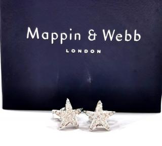 Mapping and Webb diamond star stud 18ct white gold earrings