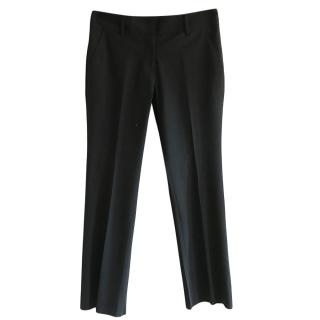 Tory Burch Navy Tapered Wool Pants
