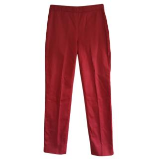 Moschino Red Skinny Pants
