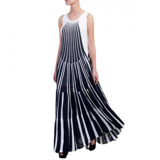 Chloe Vertical Stripe Knit Gown