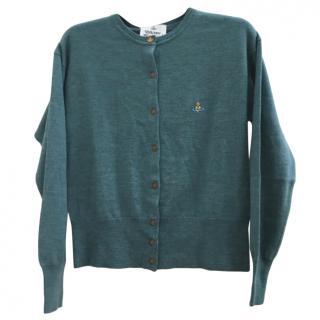 VIvienne Westwood Green Knit Cardigan