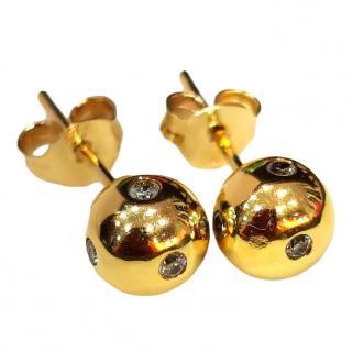 Links of London Diamond Gold Set Earrings