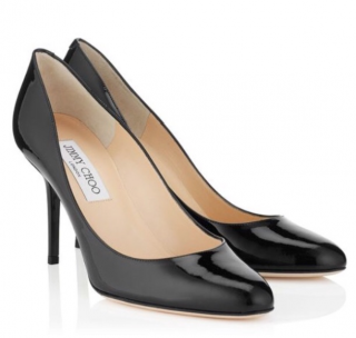Jimmy Choo Black Patent Gilbert Pumps