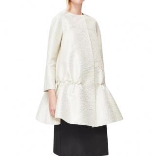 COS Peplum Ivory SIlk Coat