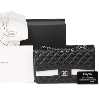 Chanel Black Quilted Leather Double Flap Bag