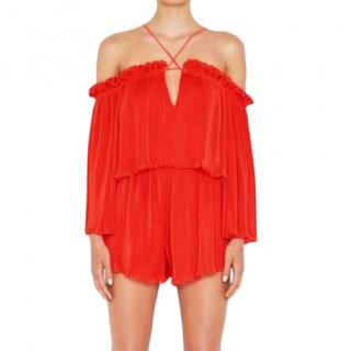 Alice McCall Red Mini Playsuit