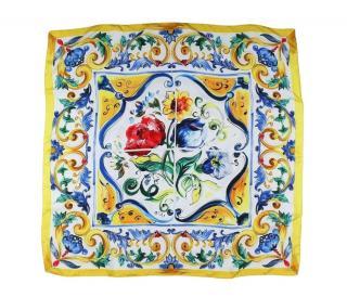 Dolce & Gabbana Sicily Print Scarf