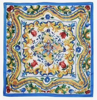 Dolce & Gabbana vase print Sicily Majolica Scarf