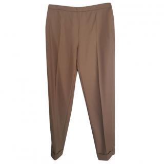 Max Mara Wool Camel Straight leg Pants