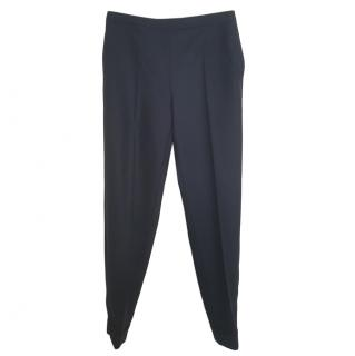 Max Mara Wool Navy Straight leg Pants