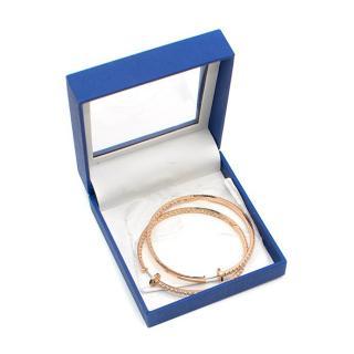 Bespoke 18ct Rose Gold Diamond Hoop Earings