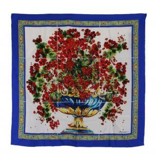 Dolce & Gabbana Printer Sicily Majolica silk scarf