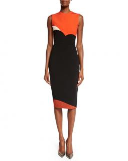 Victoria Beckham Colour block pencil dress