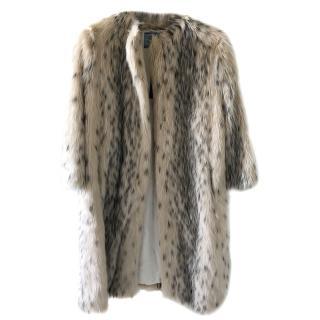 Prada Faux Fur Albino Coat