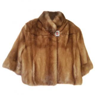 Bespoke Short Mink Fur Coat