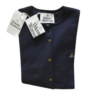 Vivienne Westwood Navy Knit Cardigan