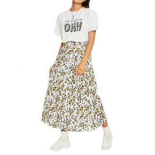 Gestuz Leopard Print Midi Skirt