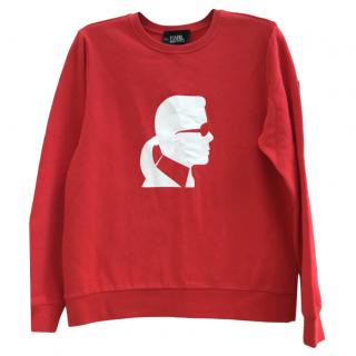 Karl Lagerfeld Red Karl Jumper