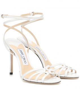 Jimmy Choo Mimi 100 White Sandals