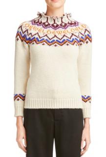 Loewe Logo Fair Isle Knit Sweater