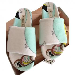 Emilio Pucci Abstract Print Terry Slippers