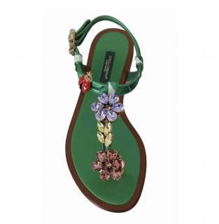 Dolce & Gabbana floral jewel embellished sandals