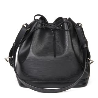 Louis Vuitton Black Epi Leather Petit Noe Tote