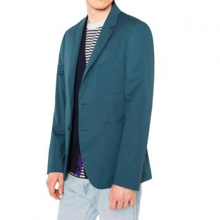 PS Paul Smith Teal Stretch Cotton Blazer