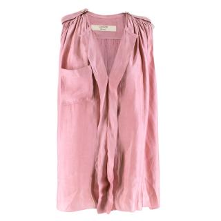 Lanvin Dusty Pink Button-embellished Top