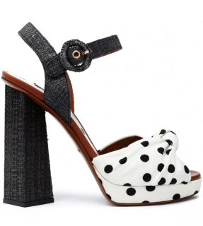 Dolce & Gabbana Knotted polka-dot cady sandals
