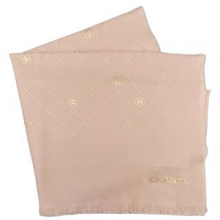 Chanel Cashmere & Silk Blush CC Scarf