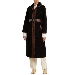 Joseph black shearling Reyk Coat